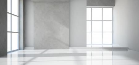 nobody: Empty modern room