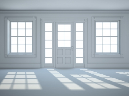 Empty room with in white color