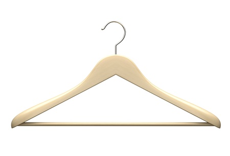 Wood hanger isolated on the white background illustration illustration