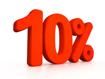 simbol: Dieci per cento simbol su sfondo bianco 3D