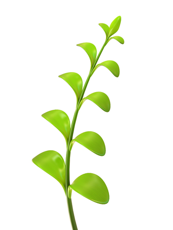 crashed: Young green multi leaf sprout 3D