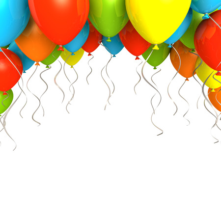 balloons party: Party ballons on white background