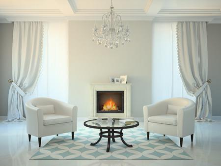 salotto in stile moderno con camino interior design 2: salotto ... - Salone Moderno Con Camino 2