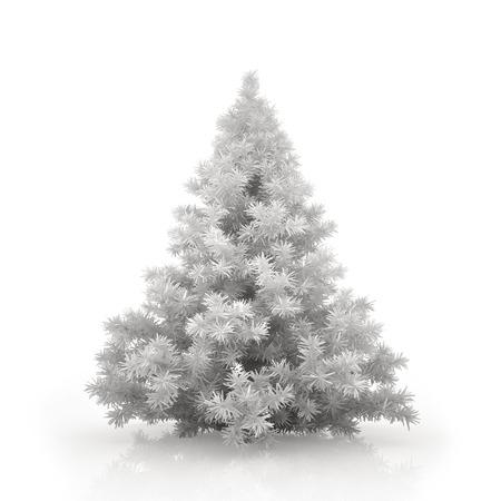 White christmas tree isolated on white background Standard-Bild