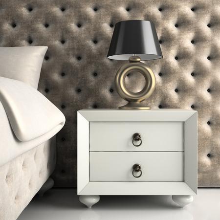 home furnishings: Part of Interior modern design luxury  bedroom 3D rendering