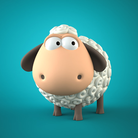 year of sheep: Symbol of 2015. Sheep on blue background. Illustration of 2015 year of the sheep.