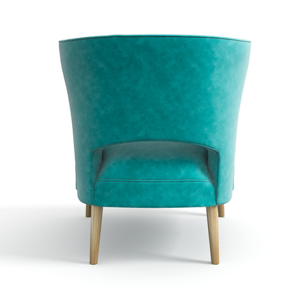 Armchair isolated white background 3D rendering Stock Photo