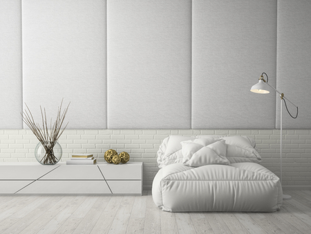 Interieur modern design kamer 3D-rendering