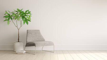 Interior of modern living room 3D rendering Imagens - 132293106