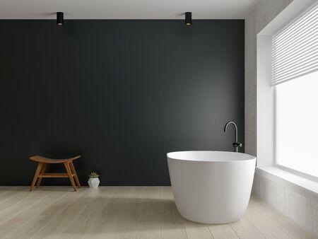 Interior modern bathroom 3D rendering 版權商用圖片