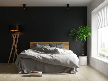 Interior of modern living room 3D rendering Imagens - 132293115