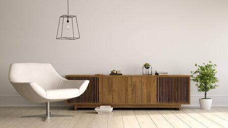 Interior of modern living room 3D rendering Zdjęcie Seryjne