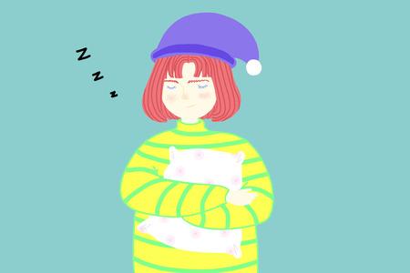 girl: Sleepy girl Stock Photo