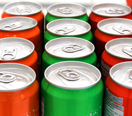 Soda cans themes WERE prepared for the monthly meeting. photo