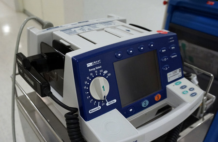 cardioverter: Manual external defibrillators are used in conjunction with electrocardiogram readers which are used to diagnose a cardiac condition