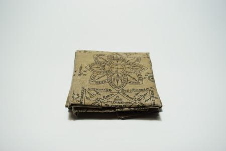thai believe: Thai Style  Fabric  for Thai Believe on white background