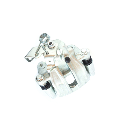 Car brake caliper on white background, isolate, carriage