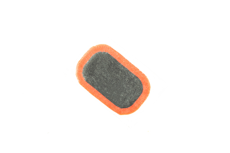Patch to puncture rubber wheel chambers, close-up, isolate, vamp