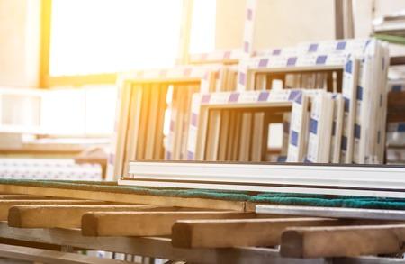 Production of pvc windows, large pvc frames, sun, window frame