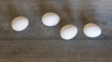 The production of chicken eggs, poultry, chicken eggs go through the conveyor for further sorting, close-up, transporter 版權商用圖片 - 107670597