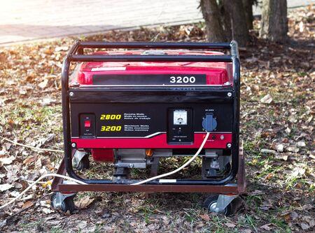 Portable powerful electric generator that runs on diesel and gasoline Standard-Bild