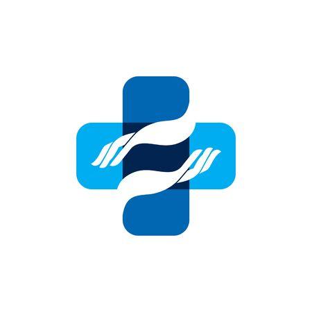 Hand Healthcare Medical Logo Vector Design