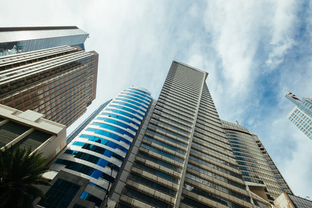 High rise city skyscapers
