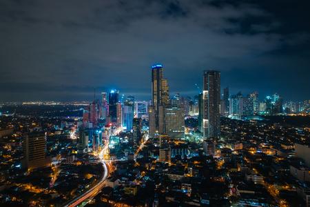 마카티 도시의 스카이 라인