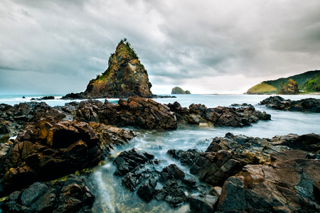 Rock formation in Diguisit beach at Baler - Philippines