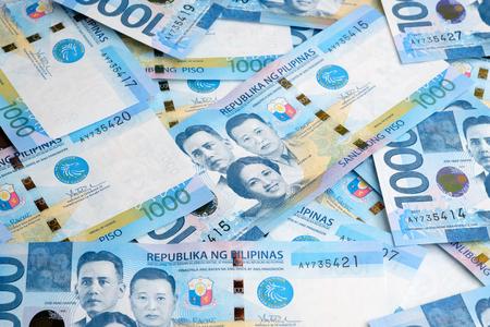 フィリピンのお金ペソ 写真素材