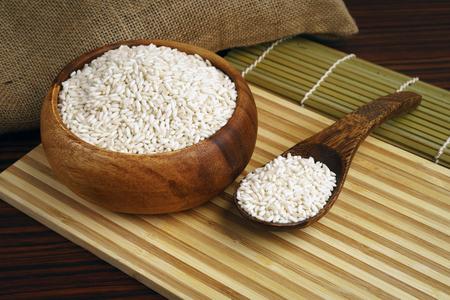 Organic sticky rice or glutinous rice
