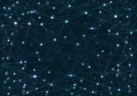 点と線と抽象的なネットワークの背景