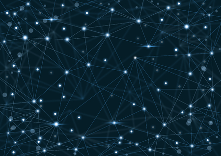 Abstract network background with dots and lines