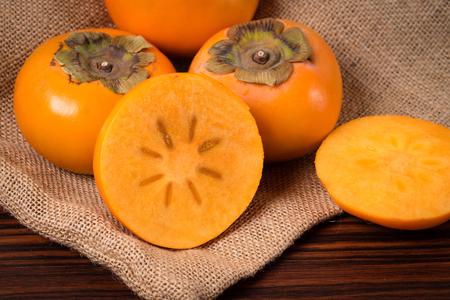 Close up shot of Persimmon fruit