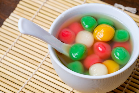 Tang Yuan or traditional chinese sweet rice ball