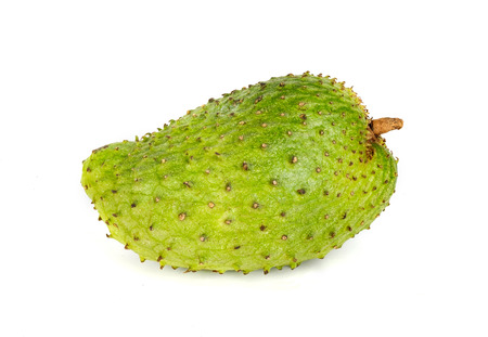 Soursop fruit on white isolated background