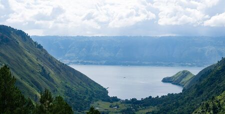 Lake Toba view from Caldera in North Sumatera - Indonesia as one of the biggest volcanic lake