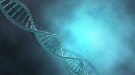 Human DNA strands concept background. 3D Render