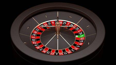Elegant Roulette Wheel. 3D illustration