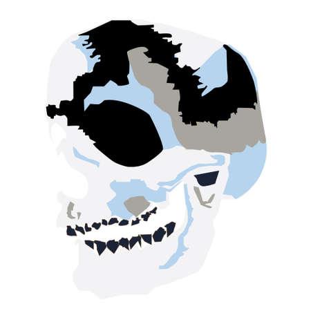 cool skull design custome Stock Vector - 86053536