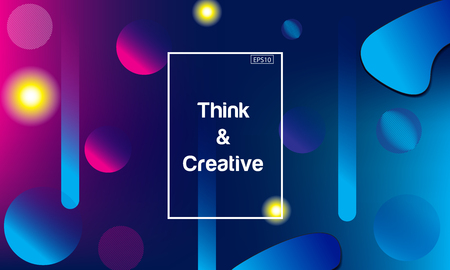 Colorful geometric background design. Fluid shapes composition with trendy gradients. Eps10 vector. Illustration