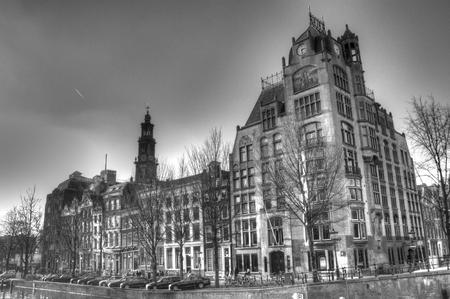 hdri: House block in Amsterdam, Netherlands