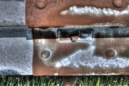 guardrail: Grunge Rusty Orange Guardrail