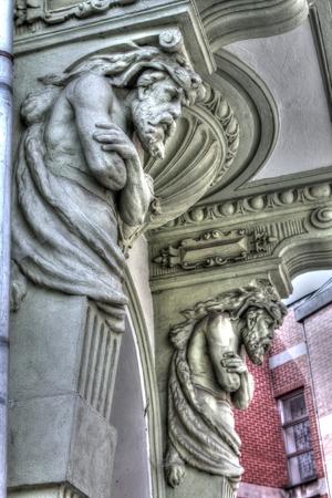 sculpting: Sculpting on house Frydlant in Czech Republic