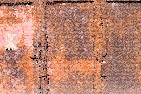 artictic: Artistic Stained Glass Rusty Door Background Stock Photo