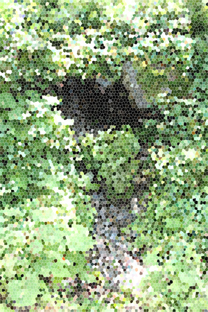 artictic: Artistic Stained Glass Stream Background Forrest