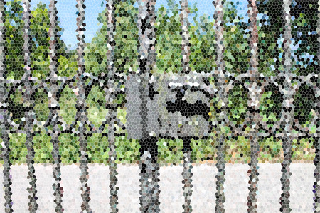 glass fence: Artistic Stained Glass Metallic Fence Background
