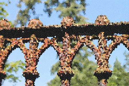 artictic: Artistic Stained Glass Rusty Fence Background