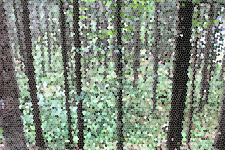 artictic: Artistic Stained Glass Forrest Hillside Background Stock Photo