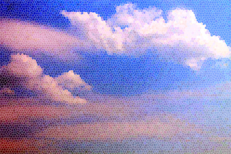 artictic: Artistic Stained Glass Sky Clouds Background